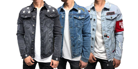 Pack of 3 New Double Pocket Stylish Denim Shirts