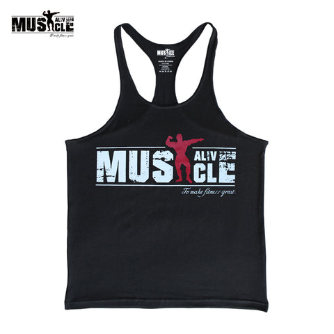 Muscle Alive Bodybuilding Vest, Workout, Gym, Muscle, Fitness - Metaphysiqueonline