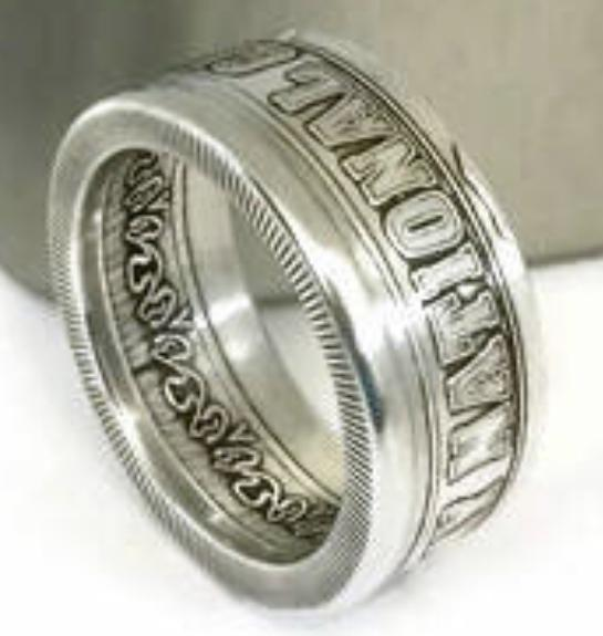 Bugteeth Silver National Guard Coin-Ring size 9-21