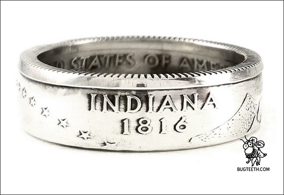 90% Silver State Quarter Coin Ring Sz 4-12 begins IL-Ka