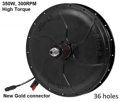 BionX P-Series motor - 350W, 300RPM, Cassette, 36 Spokes, New Gold Connector, 01-5985