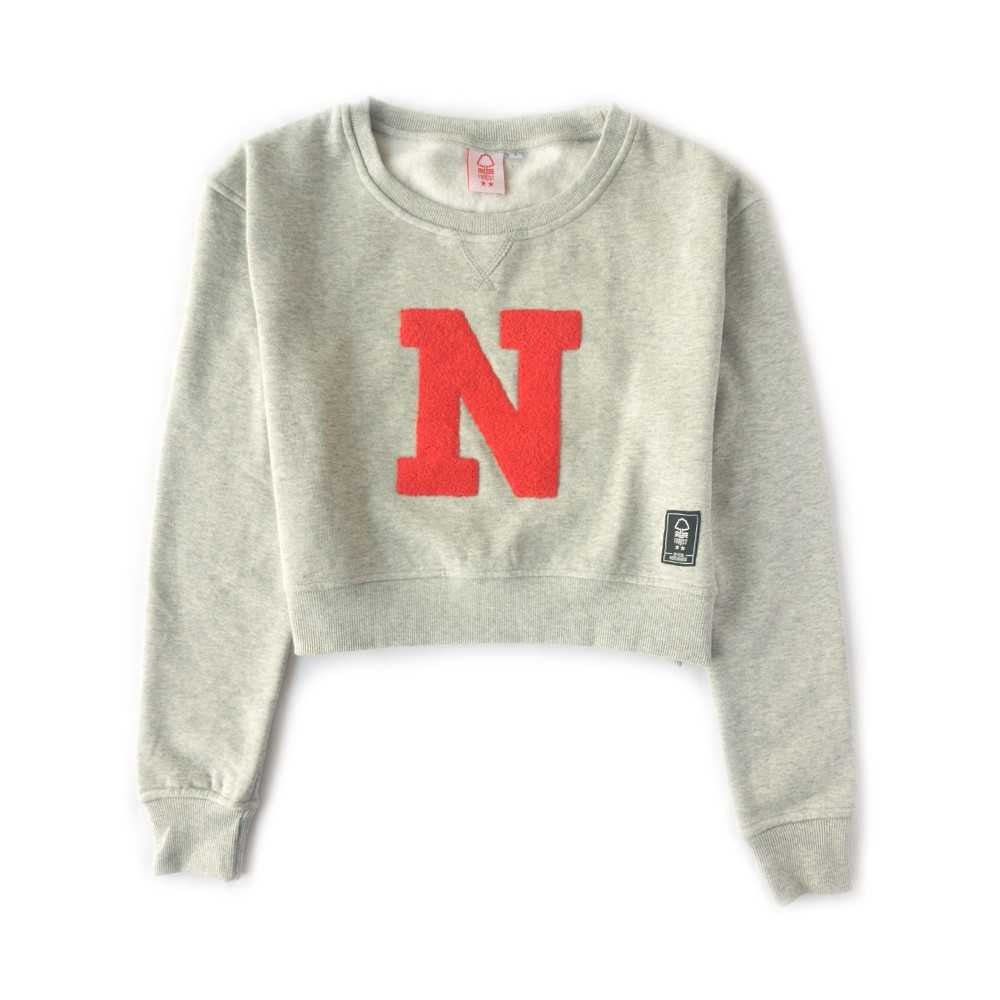 NFFC Womens Grey Cropped Sweat