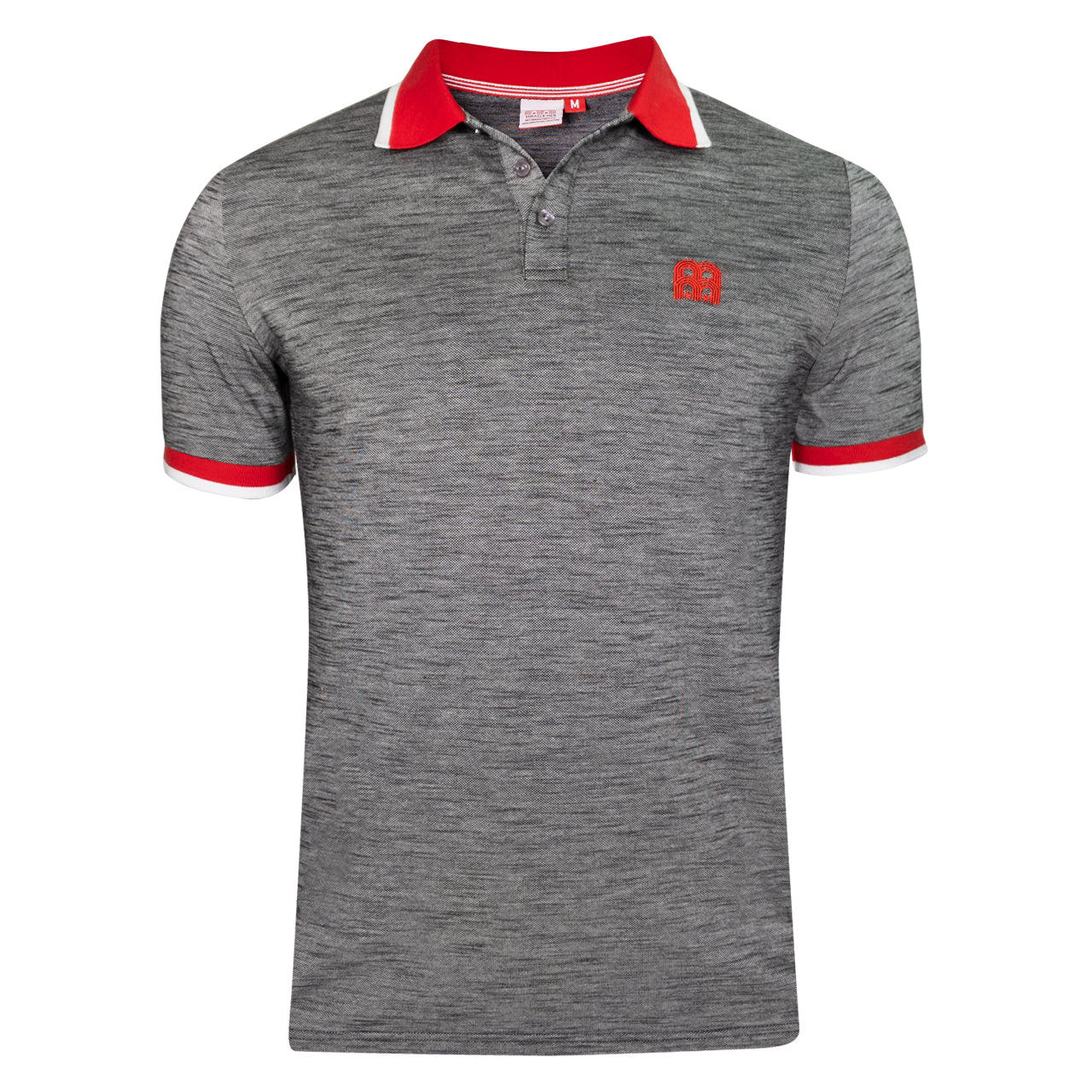 NFFC Mens Grey Contrast Rib Polo