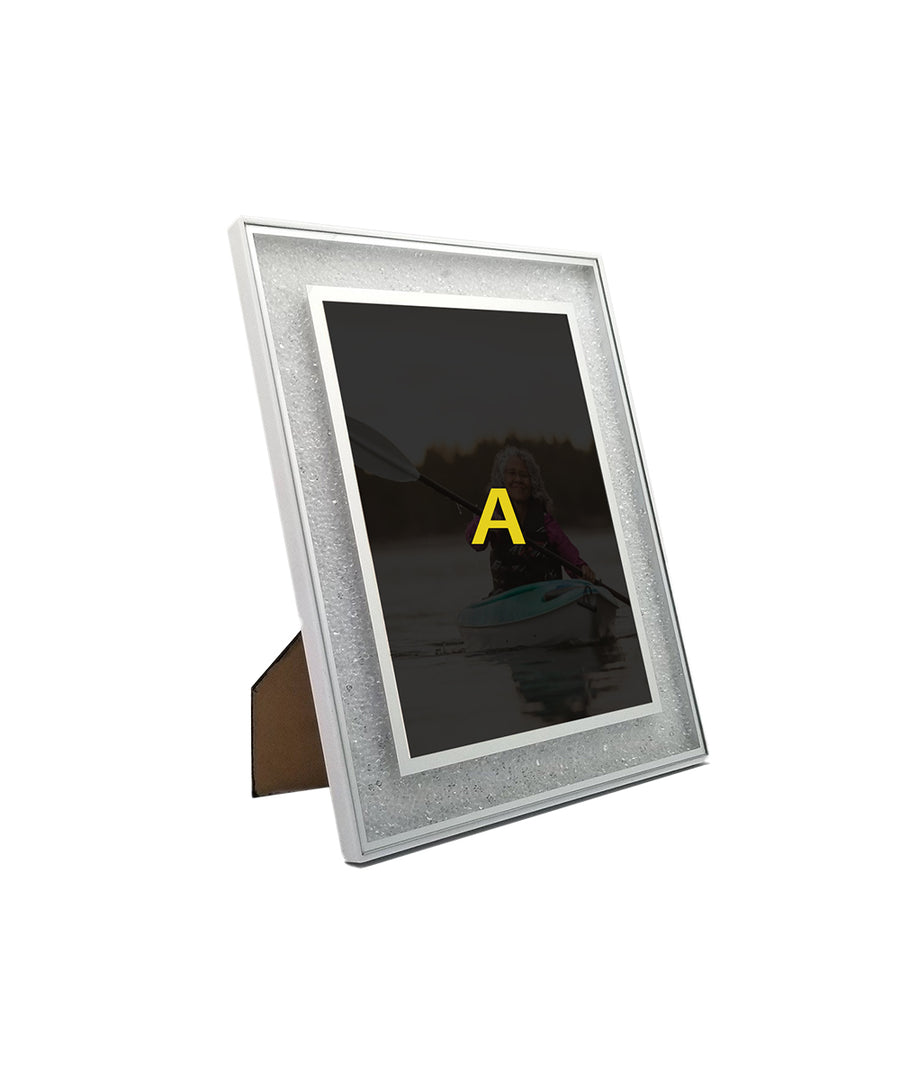 White Diamond Photo Frame for Mother