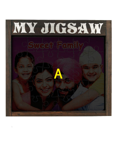 My Jigsaw Wooden Puzzle Frame
