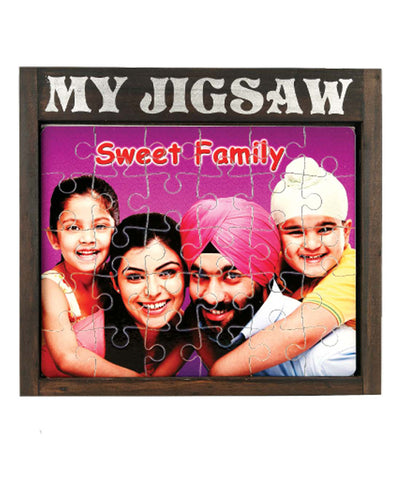 Personalized Wooden Puzzle Frame