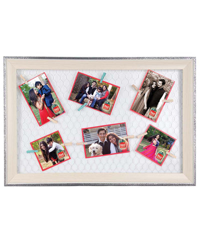 Personalised 6 Clip Photos Frame