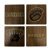 BAYLOR UNIVERSITY Walnut Coaster Set