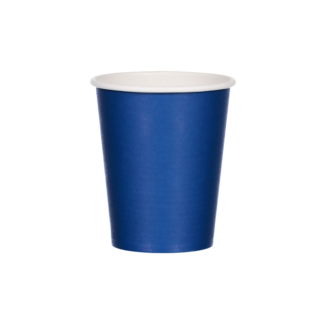 Single Walled Hot Cup - Wavy Navy