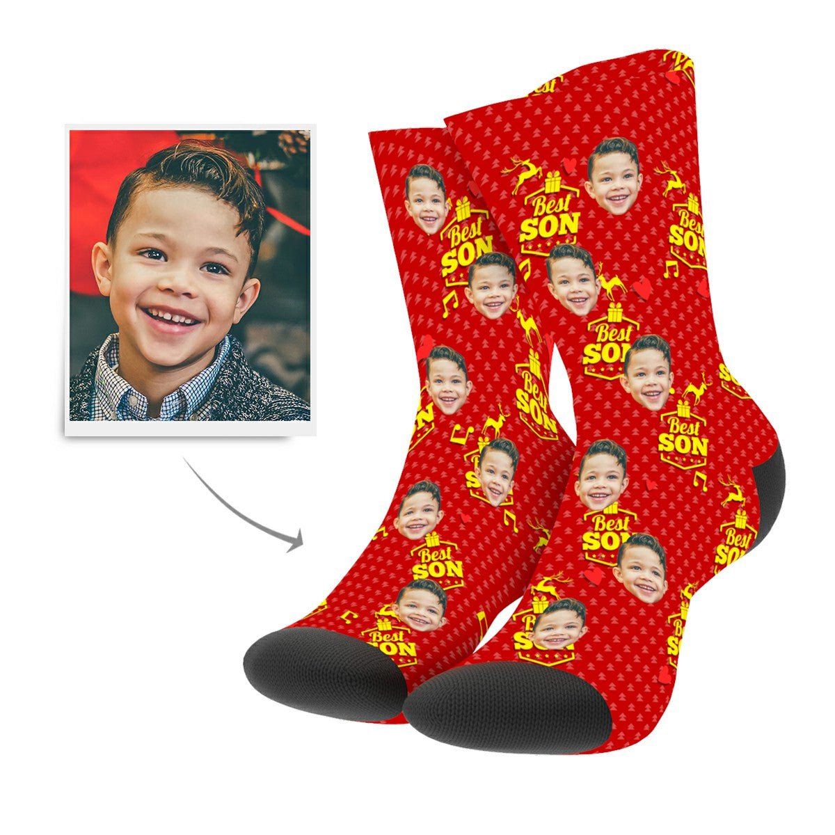 Christmas Custom Son Socks - MyPhotoSocks