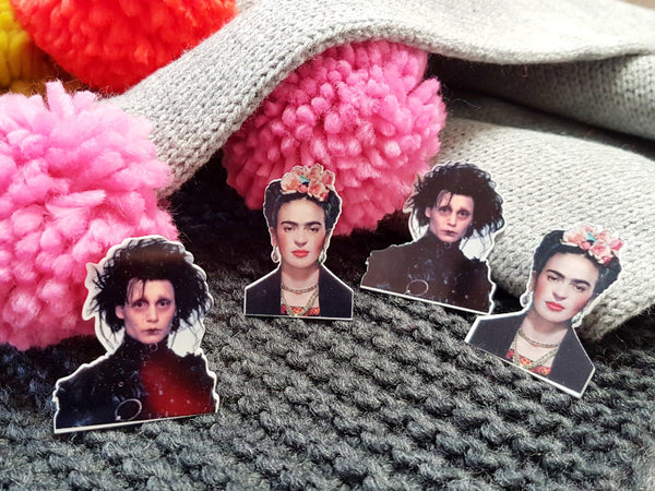 Epic Faces brooches