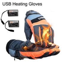 Load image into Gallery viewer, New Ice Winter Fishing Heated Gloves Fingerless Men Women PU Leather Warm Full Finger Ski Cycling Hunting USB Waterproof Gloves
