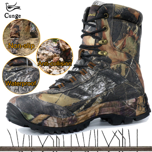 CUNGE Outdoor Tactical Sport Men's Shoes Waterproof Hiking Shoes Male Outdoor Winter Hunting Boots Mountain Shoes Men Army Boot