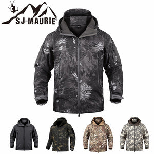 SJ-MAURIE Outdoor Men Military Tactical Hunting Jacket Waterproof Fleece Hunting Clothes Fishing Hiking Jacket Winter Coat