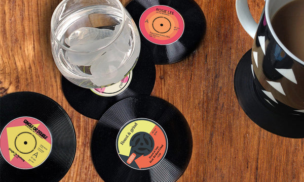 6 Vinyl Drinks Coasters