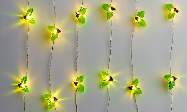 Globrite Christmas Holly String Lights