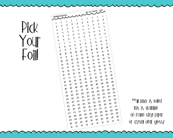 Foiled Functional Date Dots sized for Hobonichi Weeks or Hobonichi Weeks Mega - Adorably Amy Designs