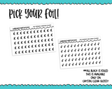 Foiled Tiny Doodled Checkmarks or Tiny Doodled X'sbPlanner Stickers for Hobonichi Weeks, Erin Condren, Happy Planner or ANY size planner - Adorably Amy Designs