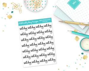 Hand Lettered Sick Day Planner Stickers for Erin Condren, Plum Planner, Inkwell Press, Filofax, Kikki K or Any Size Planners - Adorably Amy Designs