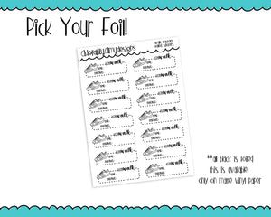 Foiled Doodled Walking Trackers Reminders Planner Stickers for Erin Condren, Plum Planner, Inkwell Press, Kikki K or Any Size Planners - Adorably Amy Designs
