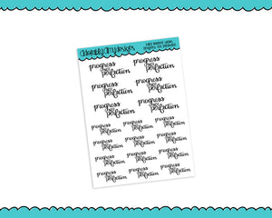Hand Lettered Progress not Perfection Self Love Planner Stickers for Erin Condren, Plum Planner, Happy Planner, or Any Size Planners - Adorably Amy Designs