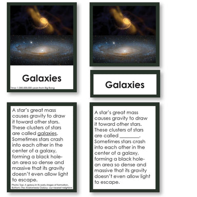 History Material-World History - Origin Of The Universe 3-Part Cards With Descriptions