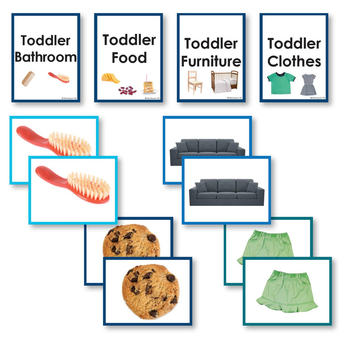 Toddler Material - Around The Home Toddler Cards