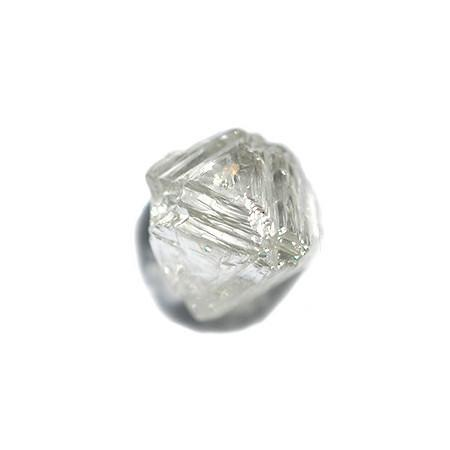 1.125 carat fancy yellow freeform rough diamond