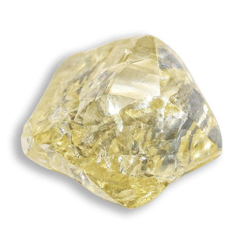 1.23 carat cognac colored freeform shaped raw diamond