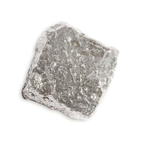 2.25 carat silver colored rough diamond cube Raw Diamond South Africa