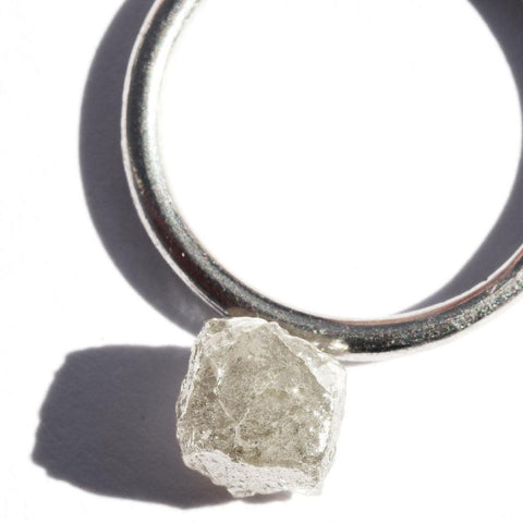 2.63 carat light grey raw diamond cube Raw Diamond South Africa