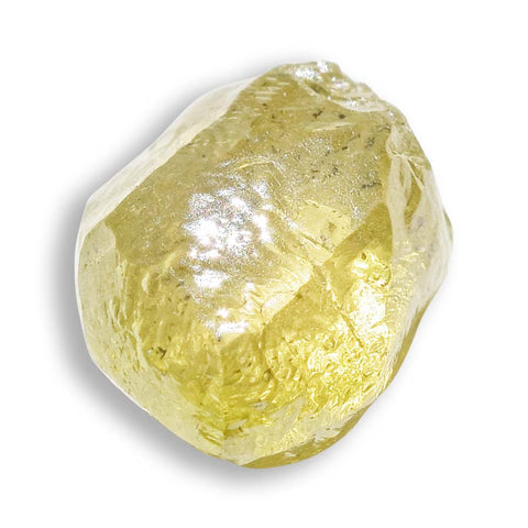 0.68 carat lemon lime raw diamond dodecahedron