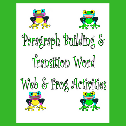 Categorizing, Paragraph Building and Transitional Words Activities Download offers a 30-page PDF.  It was created to help students understand the organizational structure or framework of written language.