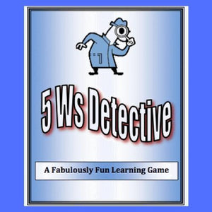 5 Ws Detective is a delightful sentence game that helps players solve silly cases by defining who did it, what they did, when it was it done, and why.