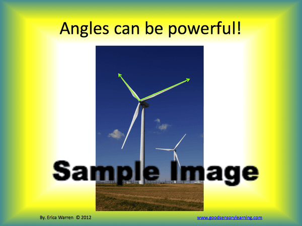 Angles Instruction PowerPoint sample page