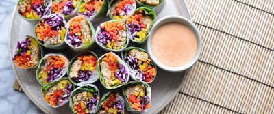 Thai Spring Rolls with Sriracha Mayo Dipping Sauce