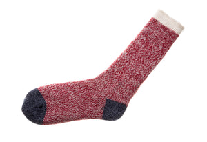 Pata Paca Melange Socks Red