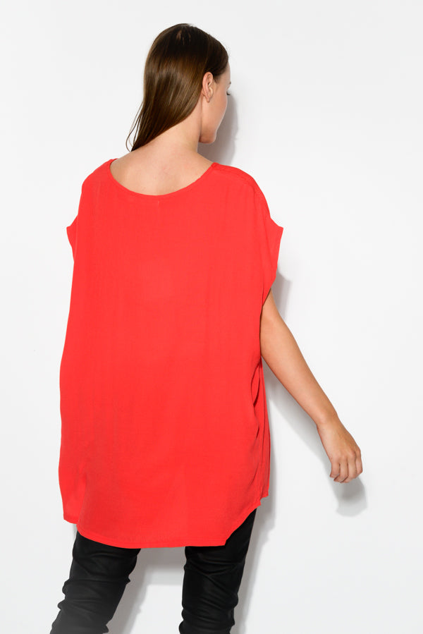Red Shell Top - Blue Bungalow