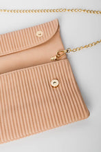 Blush Pleated Fold Over Clutch - Blue Bungalow