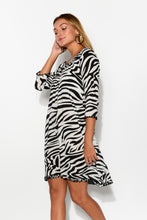 Holly White Zebra Dress - Blue Bungalow