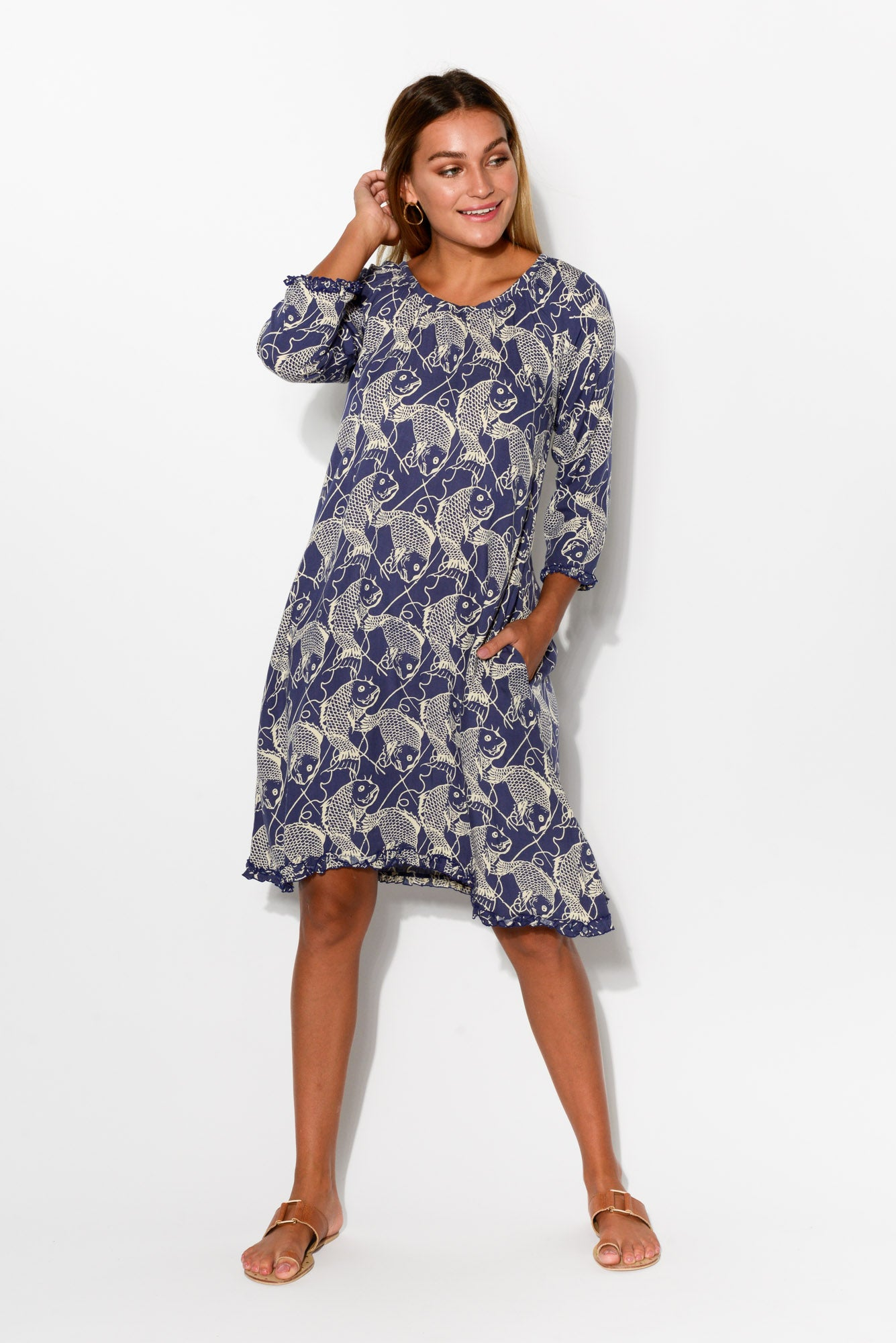 Holly Navy Nemo Dress - Blue Bungalow