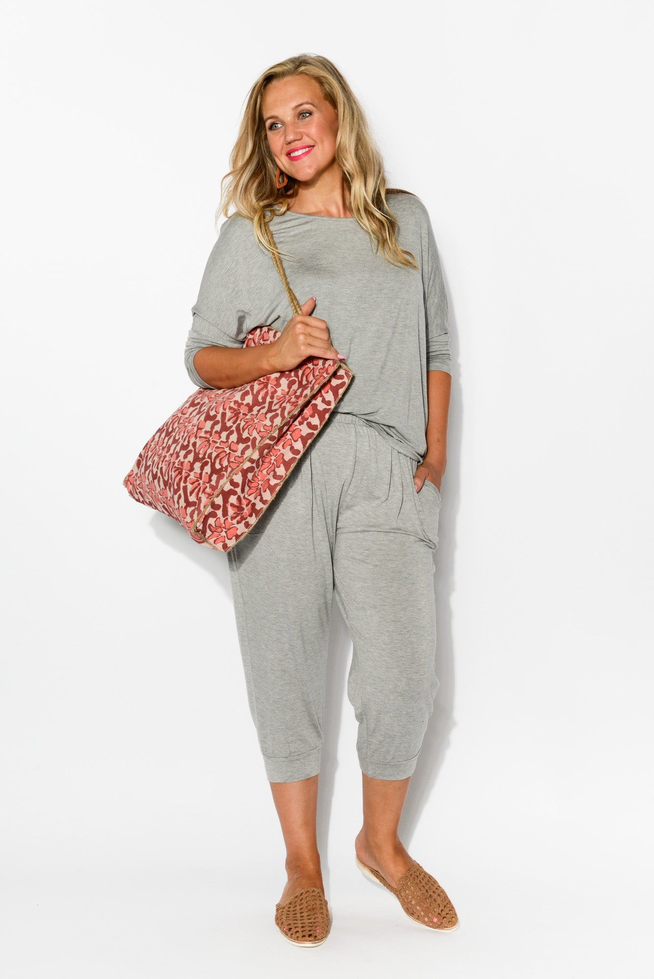 Silver Tokyo Slouch Pants - Blue Bungalow