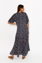 PRE ORDER Navy Sparkle Peak Maxi Dress - Blue Bungalow