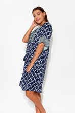 Sorronto Blue Tassel Cotton Dress - Blue Bungalow