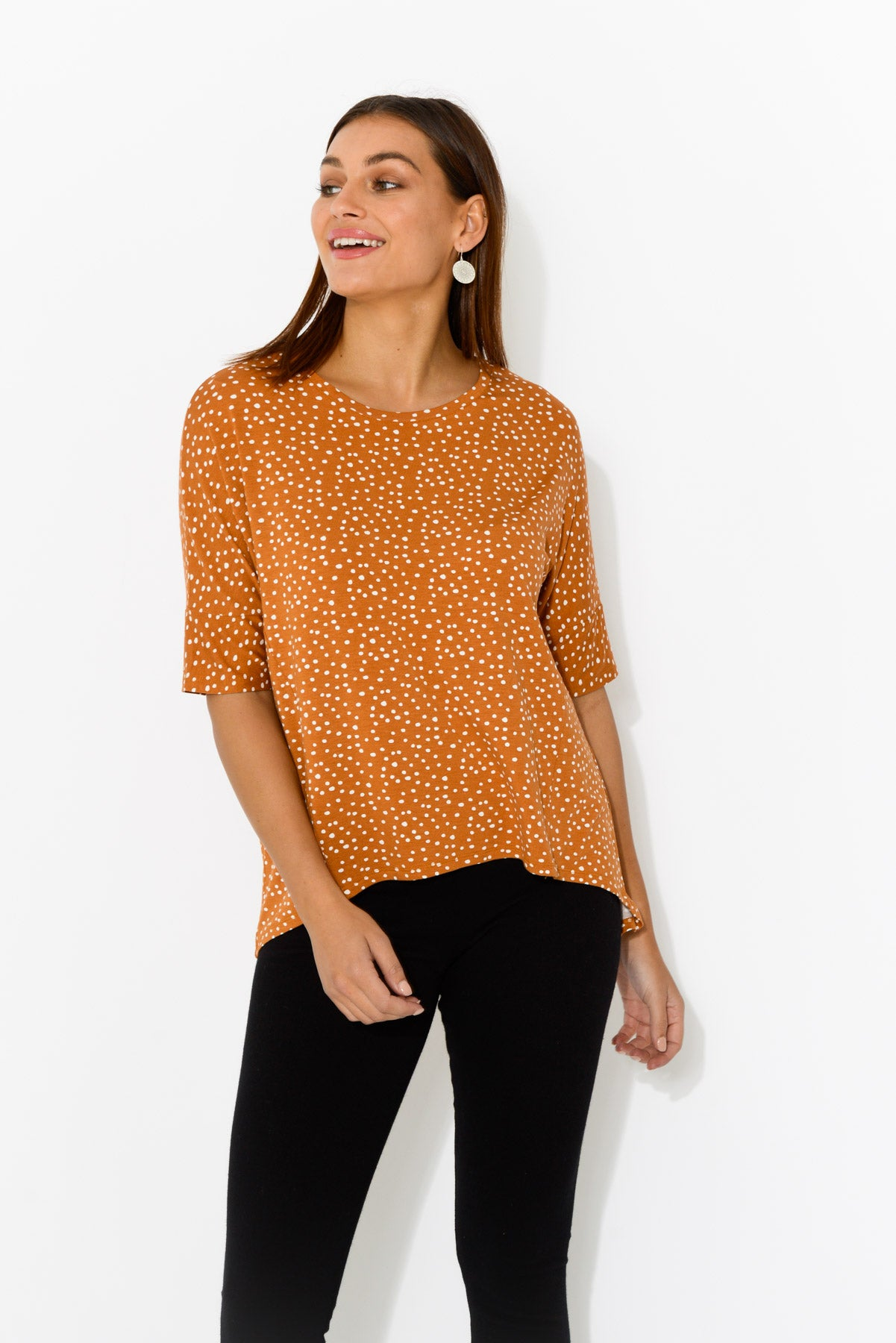 Wellington Orange Spot Tee - Blue Bungalow