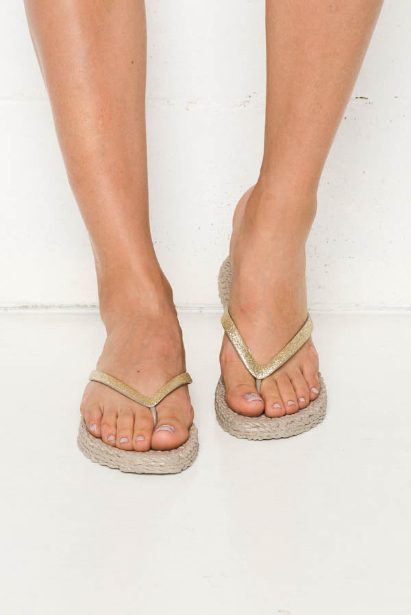 Taupe Cheerful Thongs - Blue Bungalow