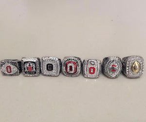 Ohio State Buckeyes College Football National Championship Ring Set (2002, 2008, 2010, 2014, 2014, 2014, 2015) - Championship Rings