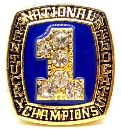 Kentucky Wildcats College Basketball Championship Ring (1996) - Championship Rings