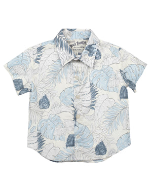 Short Sleeve Shirt | Blue Faded Flora