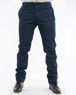 Mens Indigo Trousers | 18 Waits | front